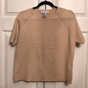 Sweaters - 100% Cashmere Short Sleeve Sweater